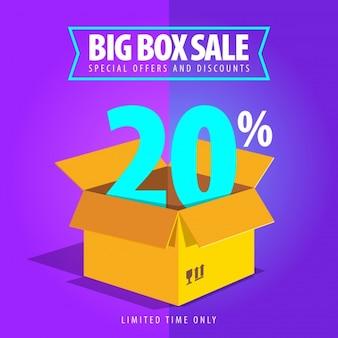 Zwanzig Prozent großer Verkauf Hintergrund