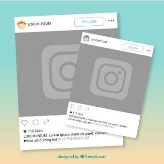 Zwei Instagram-Frames