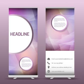 Zwei Werbung Roll-up Banner mit einem abstrakten Entwurf