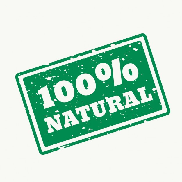 100 selo natural no vector