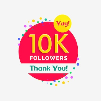 10000 seguidores poster com obrigado ilustração