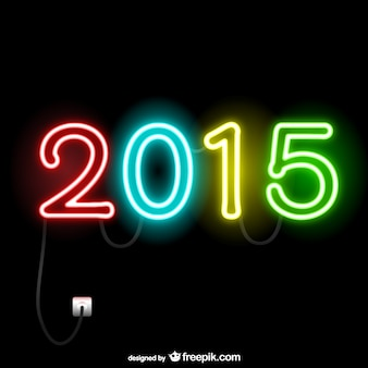 2015 luzes de néon