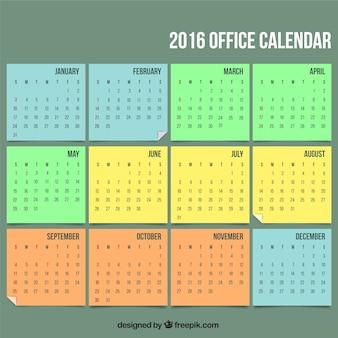 2016 calendário do escritório