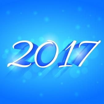 2017 efeito de estilo 3d texto escrito em estilo criativo no fundo azul