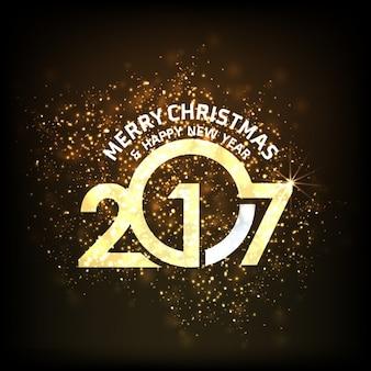 2017 Gold Glitter fundo