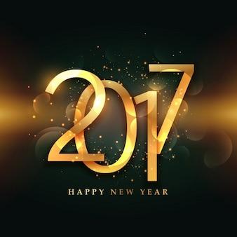 2017 rotulação dourada com fundo brilhante