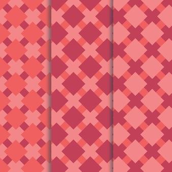 3 padrões de coral sem costura
