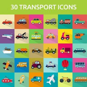 30 ícones do transporte