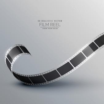 3d branco câmera carretel de filme
