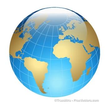 3d de cristal Terra ícone