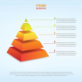 3d infografia de piramid