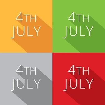 4 de julho conjunto de design de coleção