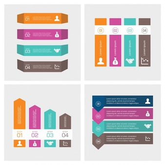 4 Passos modelo de apresentação infográfico