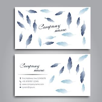 A aguarela empluma-se o projeto de cartão de casamento