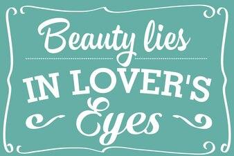 A beleza reside nos olhos dos amantes - citação do discurso em inglês