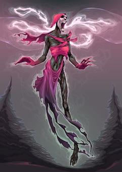 A canção da ilustração do horror de Banshee Vector