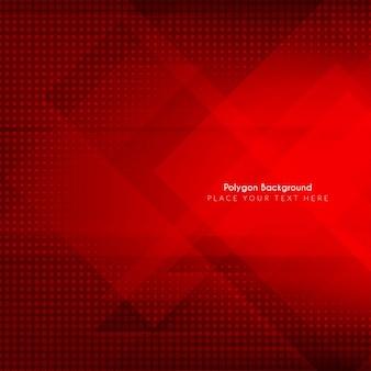A cor vermelha do projeto do fundo poligonal abstrata
