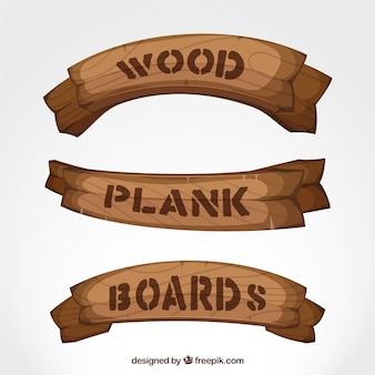 A prancha de madeira embarca a coleção
