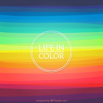 A vida em cor de fundo