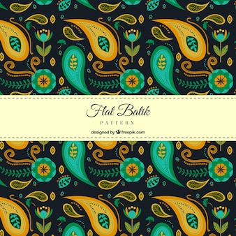 Abstract batik formas padrão
