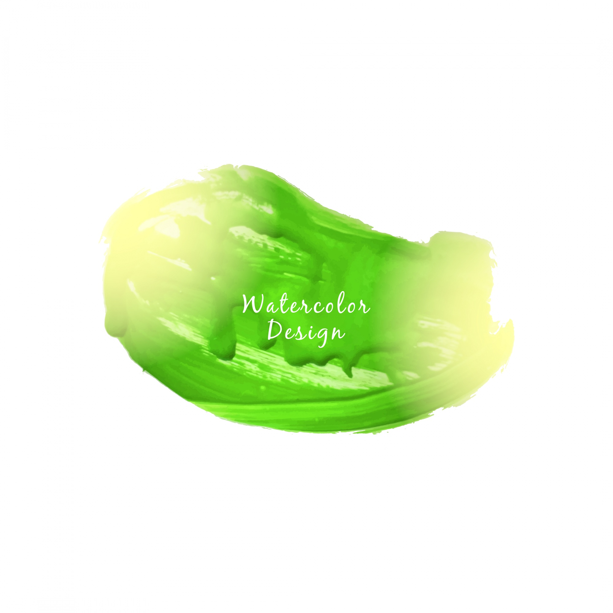 Abstract beautiful green watercolor stain design