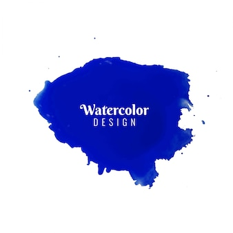Abstract blue blue watercolor design