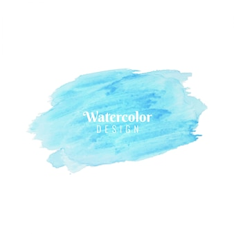 Abstract blue watercolor beautiful design