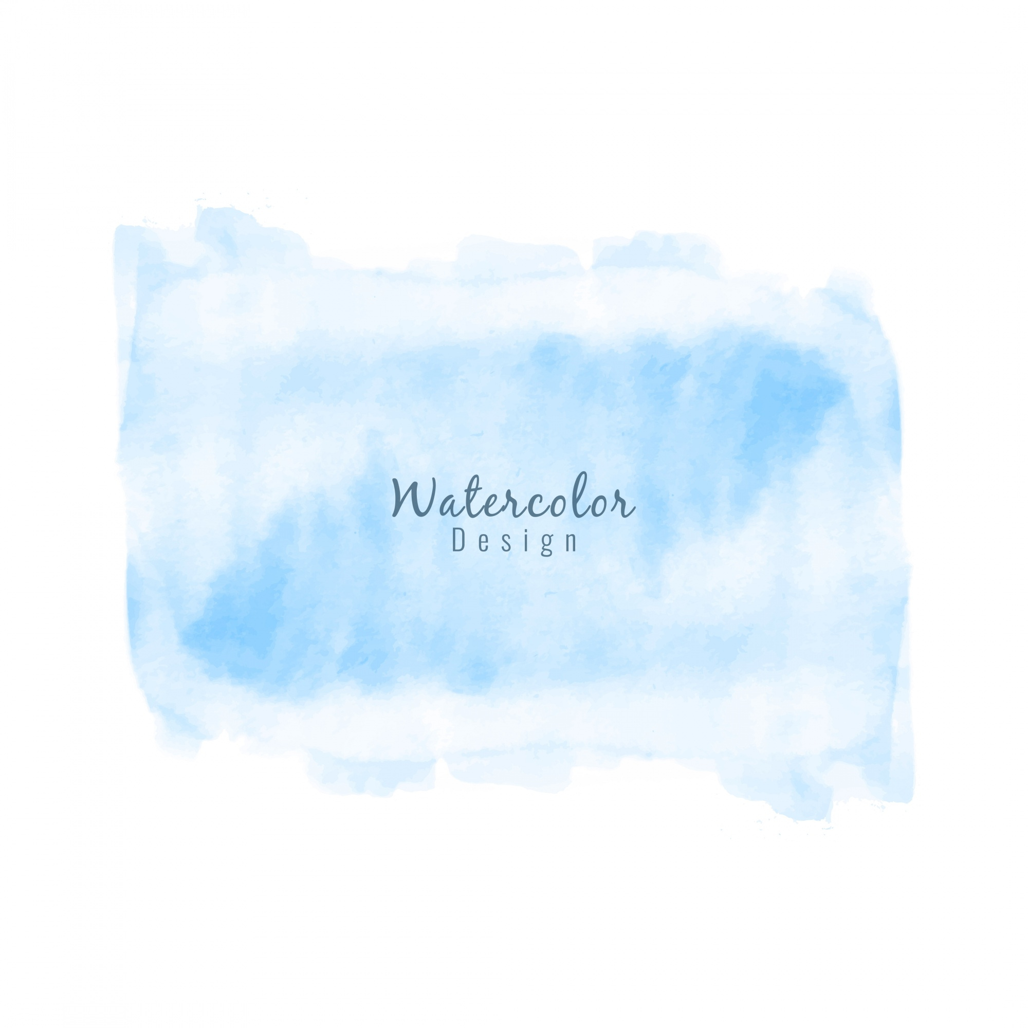 Abstract blue watercolor stain design background