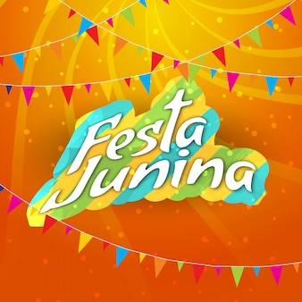 Abstract bright festa junina background