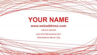 Abstract business card template design - vetor design de cartão de nome com linhas curvas no fundo branco