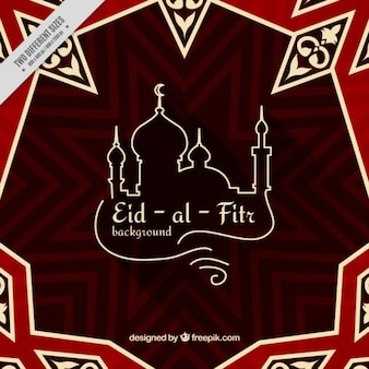 Abstract eid-al-fitr fundo