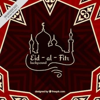 Abstract eid-al-fitr fundo