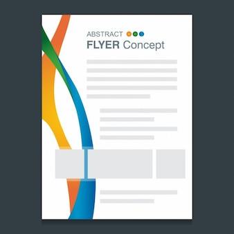 Abstract linhas coloridas modelo conceito rio panfleto