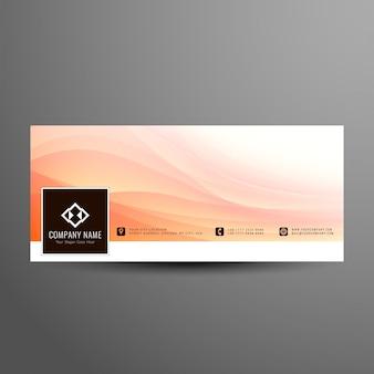 Abstract ondulado facebook design da bandeira da linha de tempo