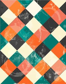 Abstract squary fundo retro colorido