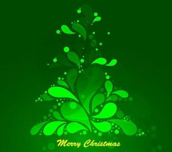 Abstract Verde Árvore de Natal gráfico de vetor