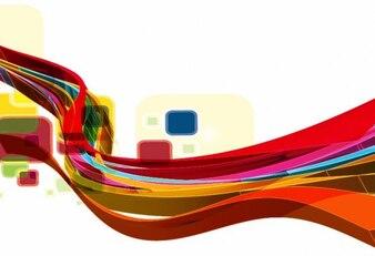 Abstrata onda de design arte vetorial fundo