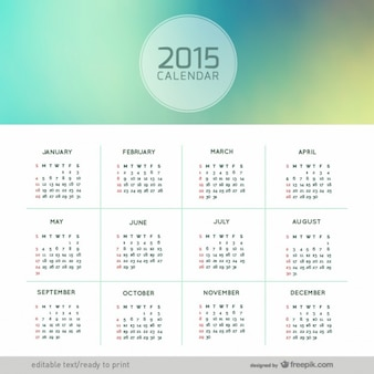 Abstrato 2015 calendário