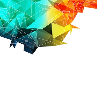Abstrato colorido de baixo teor de poli com formas geométricas, conceito minimalista.