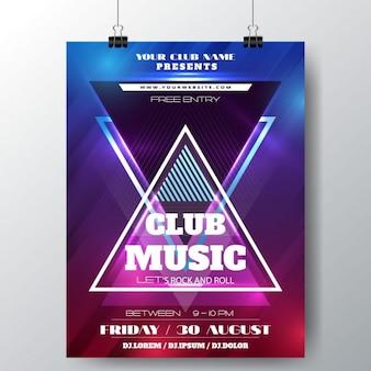 Abstrato da música clube poster