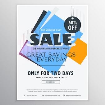 Abstrato venda e cupom de desconto voucher para a promoção de negócios
