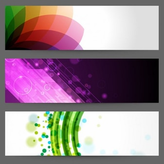 abstratos banners do projeto