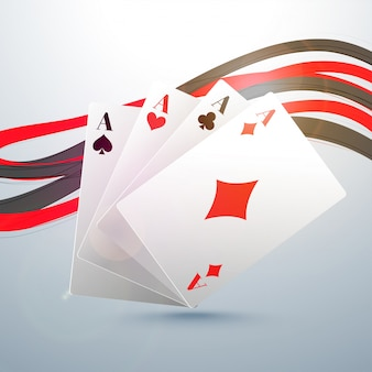 Ace Playing Cards com ondas abstratas.
