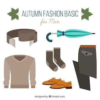 Acessórios de outono e roupas