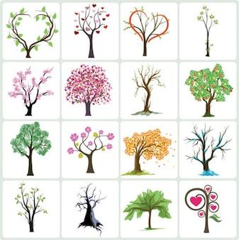 ações coleção de árvores do vetor