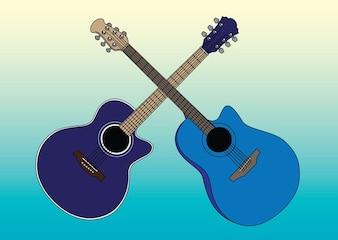 acústico vetores guitarras