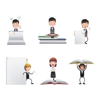 Adulto, papel, escritório, modelo, carteira