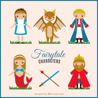 Agradáveis personagens de contos de fadas