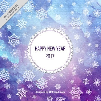 Aguarela ano novo fundo em tons de azul roxo Um
