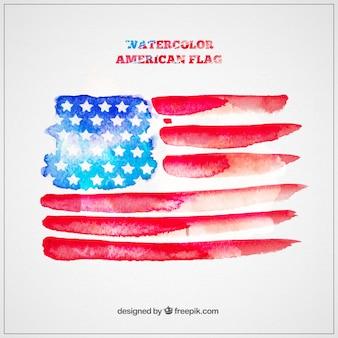 Aguarela bandeira americana